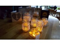 Wedding items - decorative jars and tealights