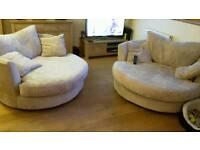 2X next swivel sofas