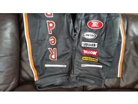 Redbull leather biker trousers