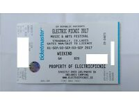 Electric Picnic Ticket 3 Day Camping Festival! SOLD OUT!!!
