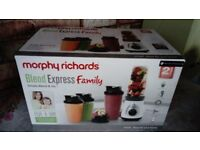 Brand New Morphy Richards Blend Express Family Food Blender with box