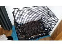 Folding Dog crate/cage W60xL86xH67 STILL FOR SALE.