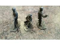 3 WW2 METAL TOY SOLDIERS