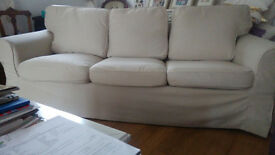 3 seater sofa with armchair - beige - IKEA EKTORP