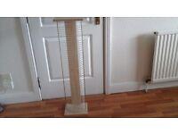 DVD storage stand,light beech/metal