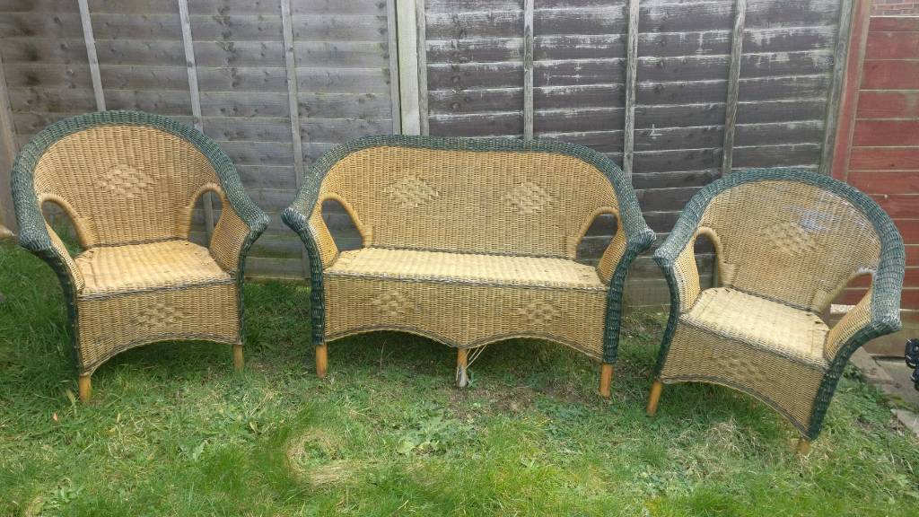 Used Rattan Garden Furniture Set In Warminster