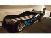 Boys racing car bed