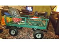Trolley box trailer with foldable sides