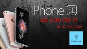 Réparation et remplacement d'un écran LCD d'iPhone SE en ~Special~ 80$tax incl. Fait en 30 min / service Garantie
