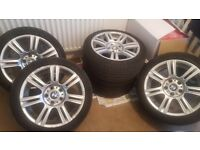 "Genuine BMW 3 Series 17"" M Sport Alloy Wheels and Runflat Tyres"