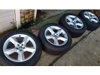 "4x 19"" genuine Audi Q7 alloy wheels (5x112) with Pirelli tyres -"