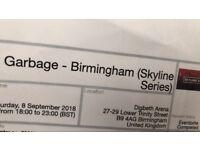 2 x garbage tickets digbeth arena Birmingham skyline series