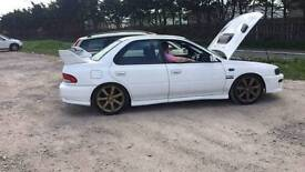 1998 Subaru impreza wrx import huge spec need gone tonite runs but canot be driven