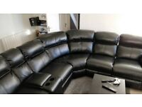 Large Leather Electric Recline Sofa