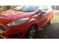 Ford Fiesta Zetec 1.25 3door hatchback 65bhp red car, year 2014 model, 15777mi