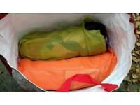 3x sleeping bags