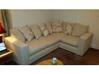 Beige-Cream Corner Sofa