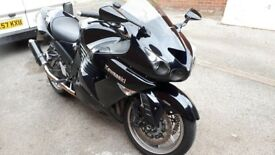 Zzr1400 black with blue flick, full service history, 12 months mot runs like new