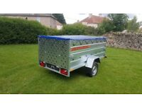 NEW Car trailer 7.7 x 4.2 double broadside with ramp £950 inc vat