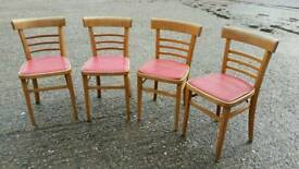 Set of four 1950's dining chairs