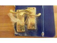 Door handle set brass