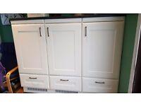 Fridge and freezer plus doors