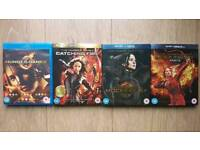 The Hunger Games Collection (1-4: Hunger Games, Catching Fire, Mockingjay Part 1 & 2) Blu Ray