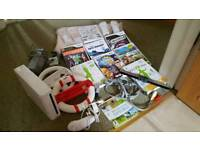 Wii with Wii fit and board, games and accessories