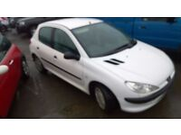 peugeot 206 style 2004 registration, 1.1 petrol , covered only 96,000 miles, new mot