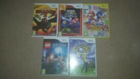 Various Nintendo Wii games. As good as new.