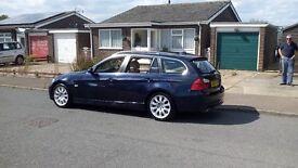 BMW 330D SE TOURING(ESTATE) 2005 (55 REG) AUTOMATIC. BEIGE LEATHER INT. SAT NAV. REMOVEABLE TOW BAR.