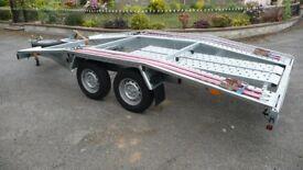 Car trailer, transporter new Martz 13.5ft long, 6.5ft wide, 4 x 2m.