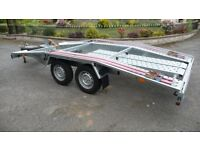 Car trailer, transporter new Martz 13.5ft long, 6.5ft wide, 4 x 2m.