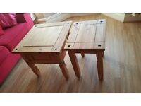 Wooden Nest of 3 tables