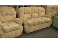 3 Seater Settee + 1 Chair. Very Good Condition. Local Delivery..S.O.T Area.