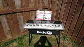 Rock jam multi function electronic keyboard with stand