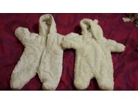 Snow suits,Newborn and 0-3mths