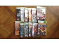 Xbox 360 games selection