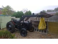 1957 furguson diesel tractor with loading bucket all working needs painting on its first reg