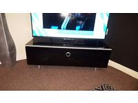Black high gloss and infrared proof glass TV unit/entertainment unit