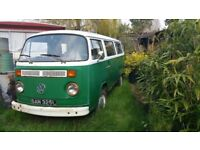 1972 Tax Exempt Volkswagon Type 2 Bay Window Campervan