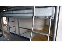 Single Bunk Bed with Desk and Shelf attached