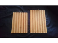Pretty wooden chopping board set