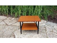 Vintage Retro Metal and Teak Coffee Table LEWES COLLECTION