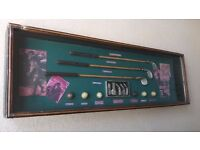 Vintage display Golf club set in display case.