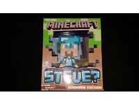 "JOB LOT of Minecraft toys - Lots rare and great condition! Inc Steve 6"" Diamond Edition and more!"