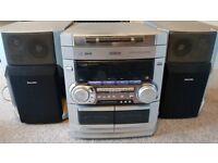 Phillips FW-c280 Mini Hifi Cd Cassette Deck System Unit
