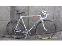 VINTAGE PEUGEOT PREMIERE RACING BIKE 22.5in/57cm CARBOLITE FRAME,,SERVICED AND 2 NEW TYRES