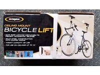 Cycle ceiling bike lift