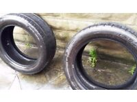 2 x used tyres 245/50/ZR18 good condition